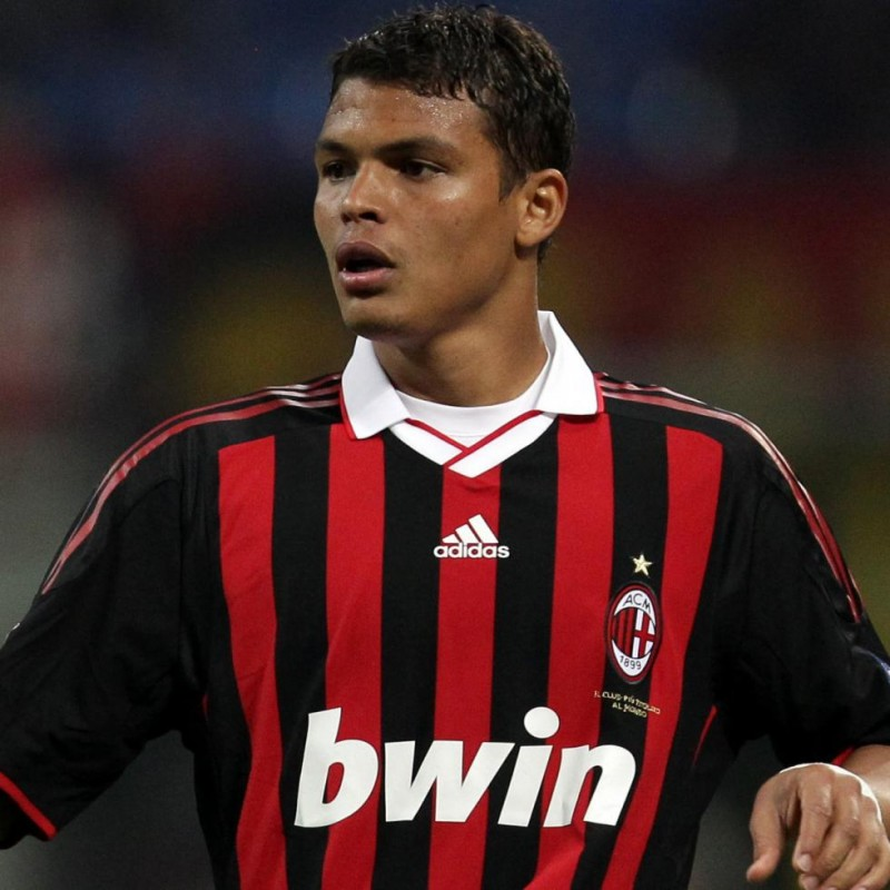 Thiago Silva's Match-Issued Milan-Inter Shirt, 2009 WFC