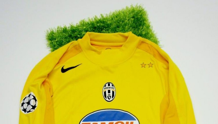 Chimenti Match Issued Worn Shirt Juventus Champions League 04 05 Signed Charitystars