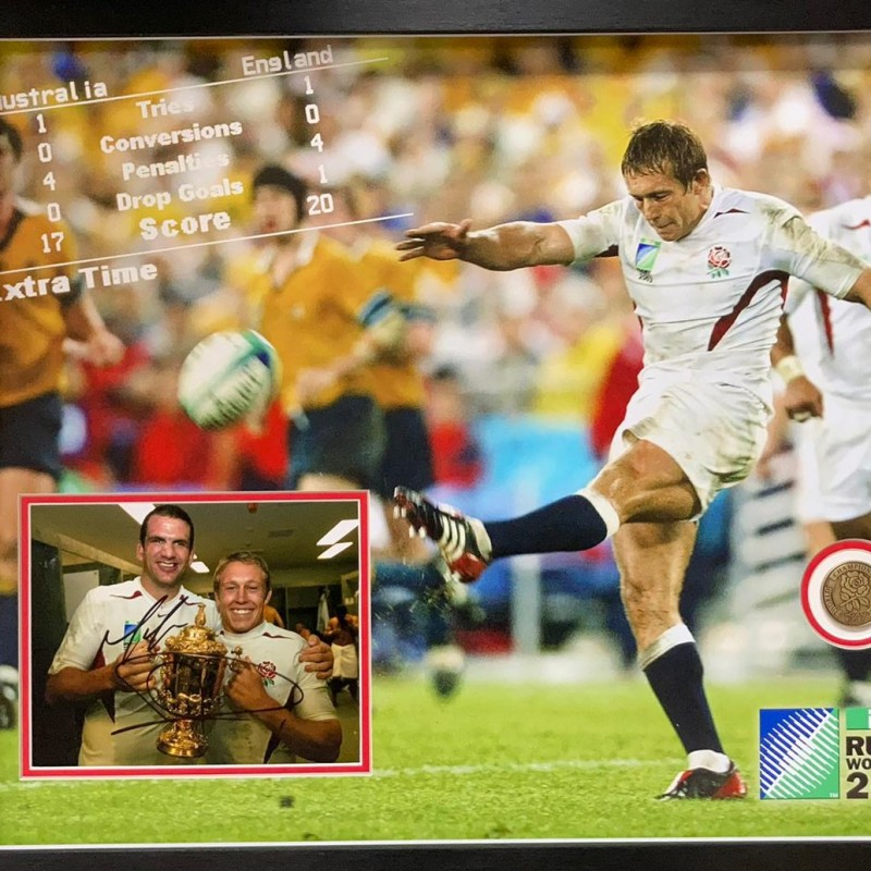 England 2003 Rugby World Cup Signed Display