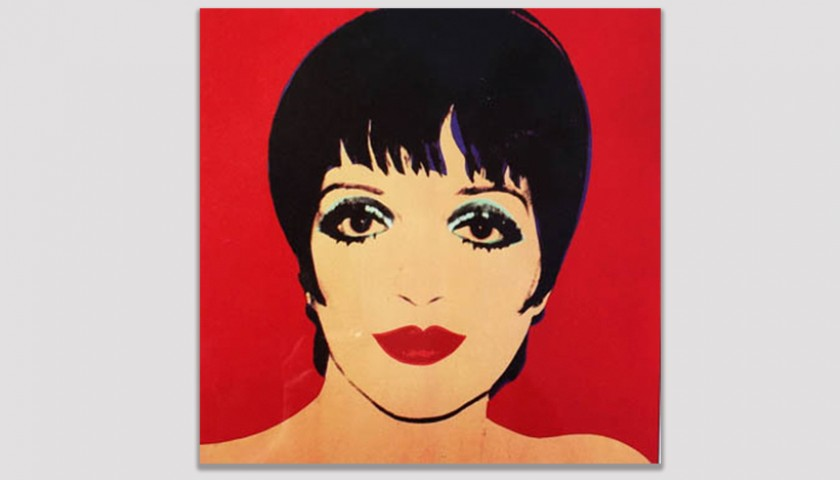 Lithograph Portrait of Liza Minnelli by Andy Warhol