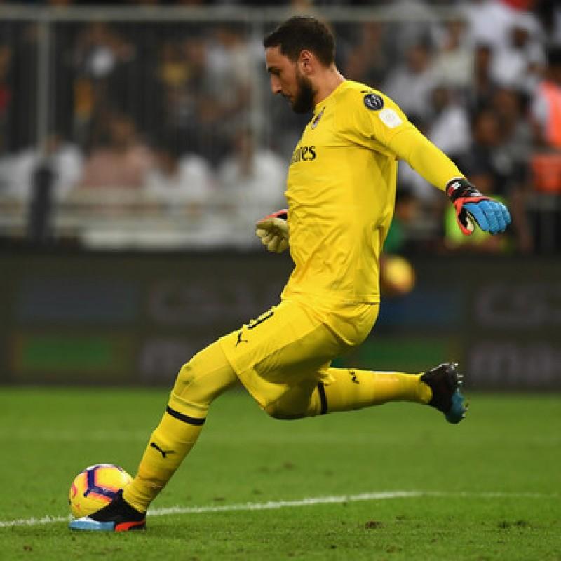Maglia Donnarumma preparata Juventus-Milan, Jeddah 2019