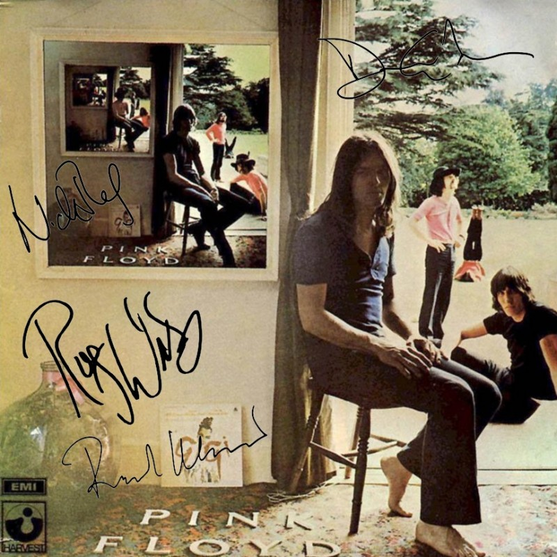 Pink Floyd Record with Printed Signatures