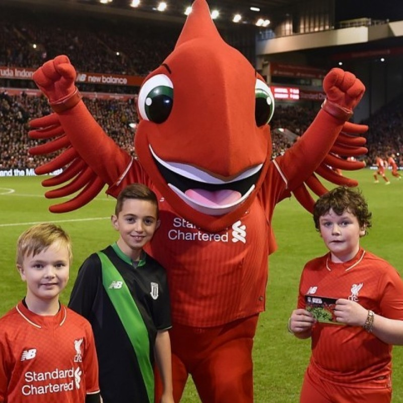 Official Mascot at the LFC Foundation Legends Charity Match