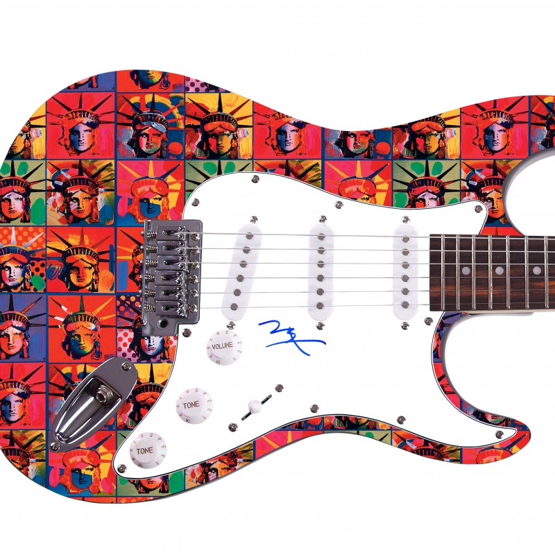 Peter Max Hand Signed Guitar