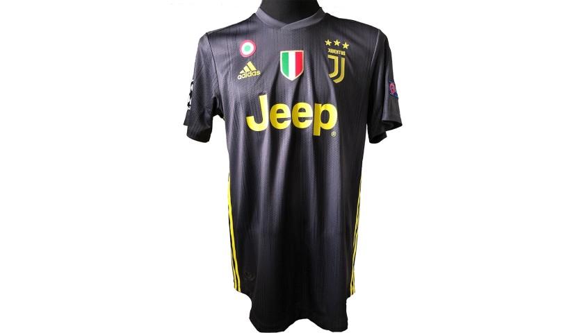 Dybala's Worn and Unwashed Shirt, Atletico Madrid-Juventus 2019