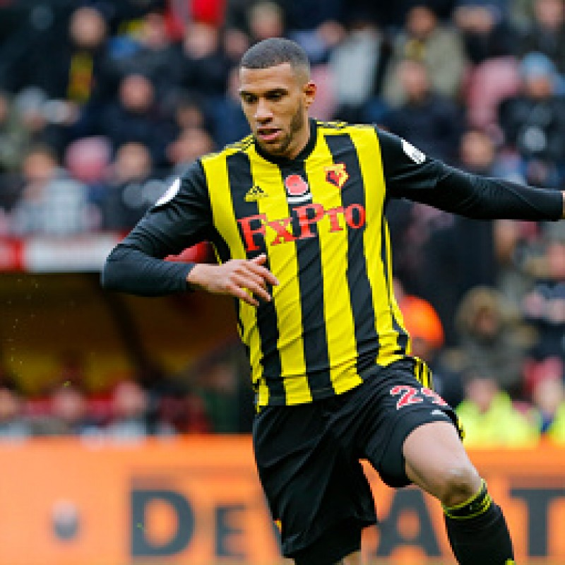Capoue's Watford FC Worn and Signed Poppy Shirt