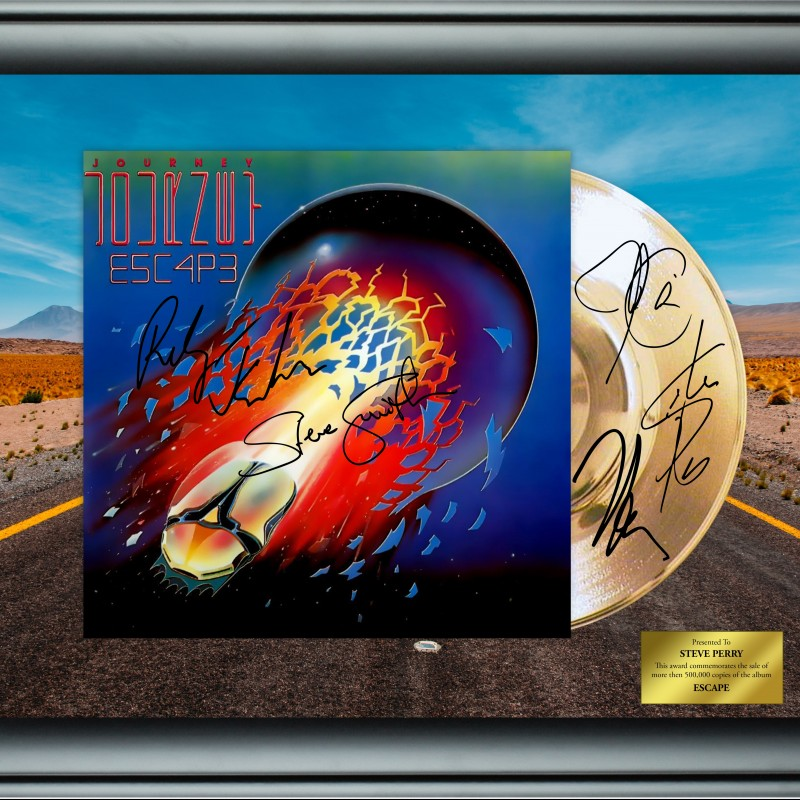 Journey Custom Framed Gold Record Display