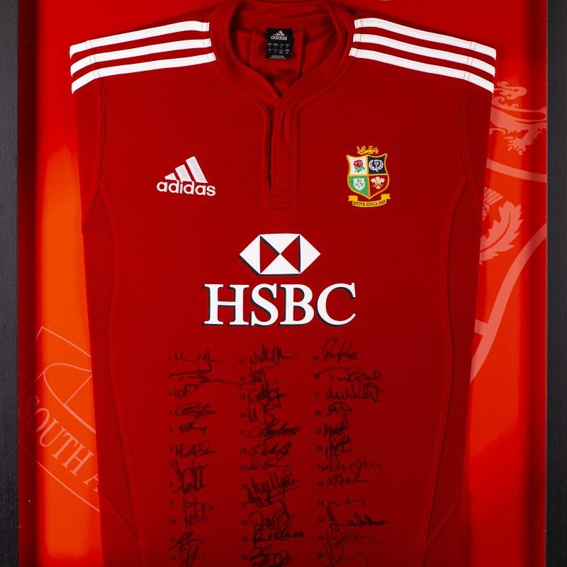 Lions 2009 South Africa Tour Squad Signed Framed Shirt