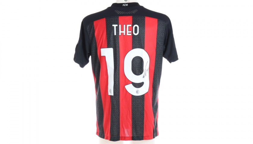 Theo's Worn and Signed Shirt, Inter-Milan 2021