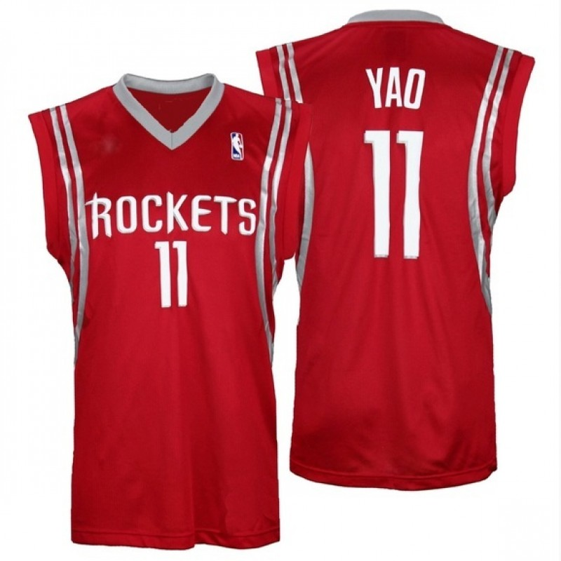Yao Ming Hand Signed Houston Rockets Jersey