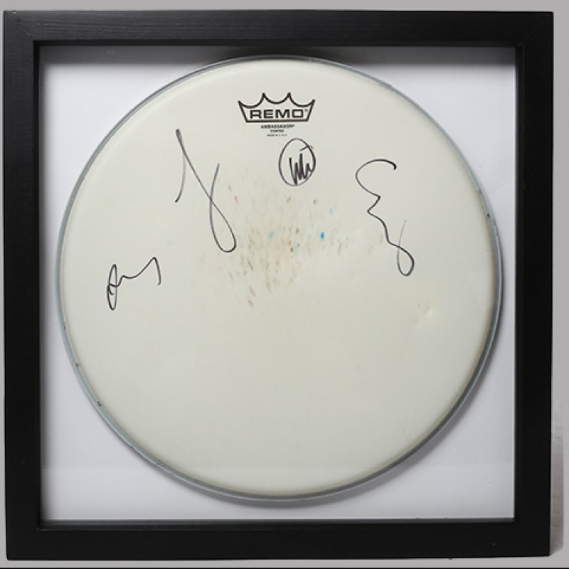 WILL CHAMPION - Coldplay Signed Drum Head