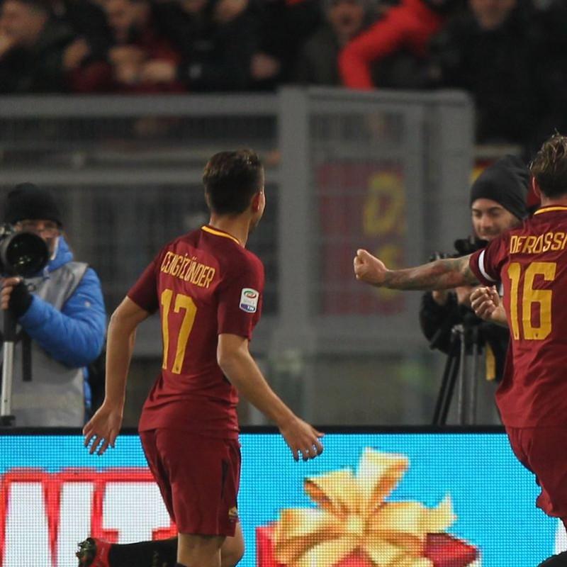 Cengiz Ünder's Match-Worn Roma-Cagliari Shirt, Special Sponsor Telethon