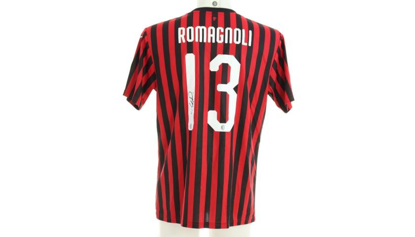 """Romagnoli's Worn Shirt, Juventus-Milan - """"Andrà Tutto Bene"""""""