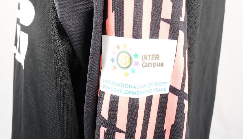 Handanovic's Worn Shirt, Inter-Atalanta - Inter Campus Patch