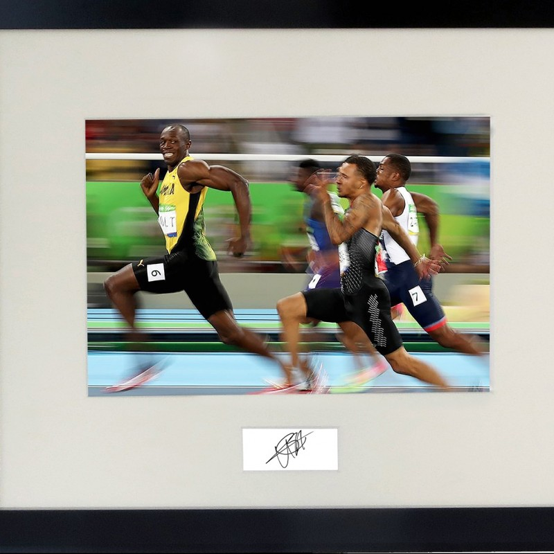 Usain Bolt Signed Print