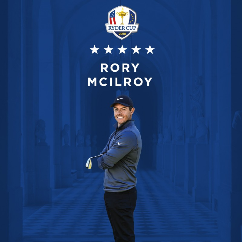 Official Golf Flag, Ryder Cup 2018 - Signed by Rory McIlroy