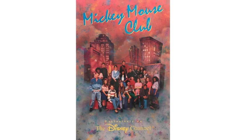 Authentic Poster Autographed by Reunion Mouseketeers
