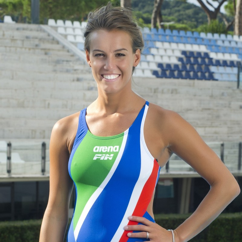 Arena Swimsuit Signed by Italian Champion Tania Cagnotto