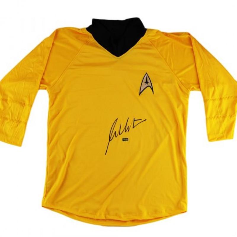 William Shatner Signed Yellow Custom Star Trek Uniform