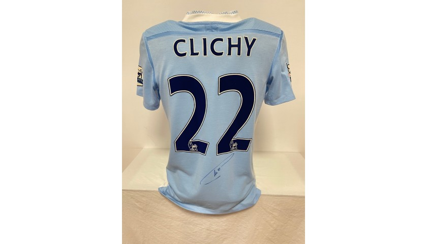 Clichy's Manchester City Signed Match Shirt, 2011/12