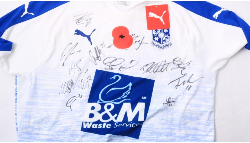 Tranmere Rovers Official Poppy Shirt Signed by the Team