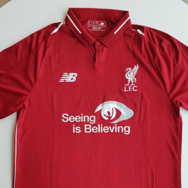 Match-Issued 2018/19 LFC Home Shirt signed by Mohamed Salah