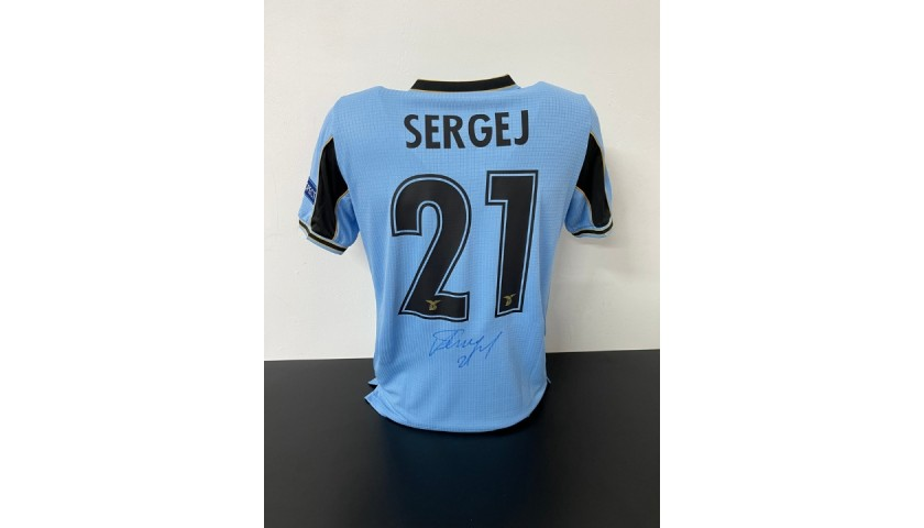Milinkovic-Savic's Official Lazio Signed Shirt, UCL 2020/21 - Limited Edition Box