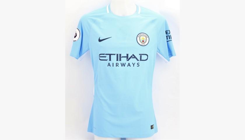 De Bruyne's Man City Worn and Signed Shirt, 2017/18