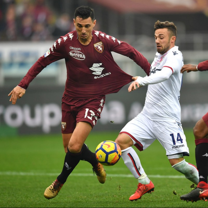 Burdisso's Signed Match-Issued Torino Shirt, Serie A 2017/18