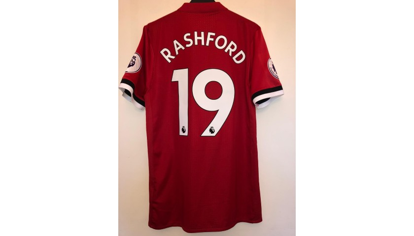 Rashford's Man Utd Match Shirt, PL 2017/18