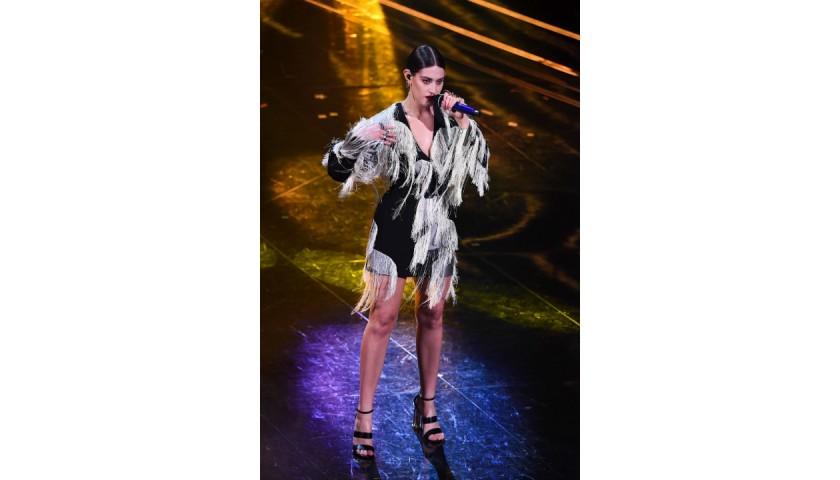 Ferragamo Dress Worn by Gaia at Sanremo 2021
