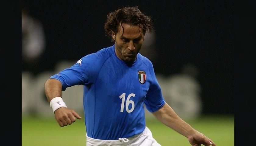 Di Livio's Italy Match Shirt, 2000/02