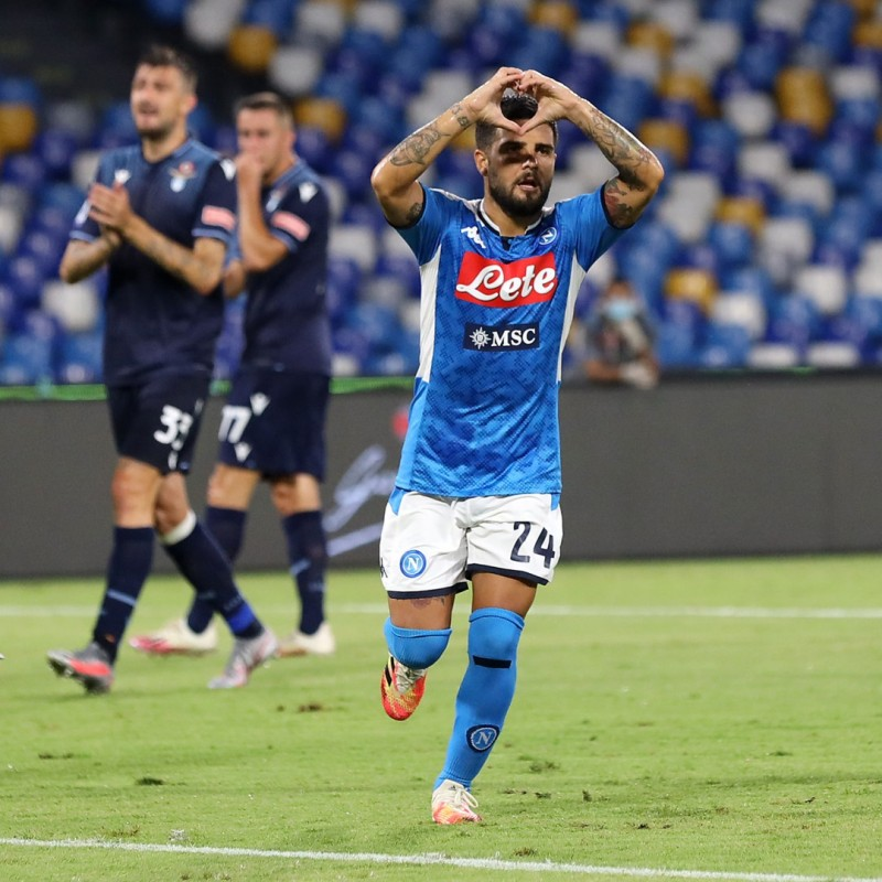Insigne's Worn and Unwashed Shirt, Napoli-Lazio 2020