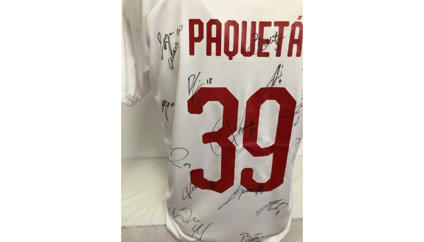 Paquetà's Official Milan Shirt, 2019/20 - Signed by the players