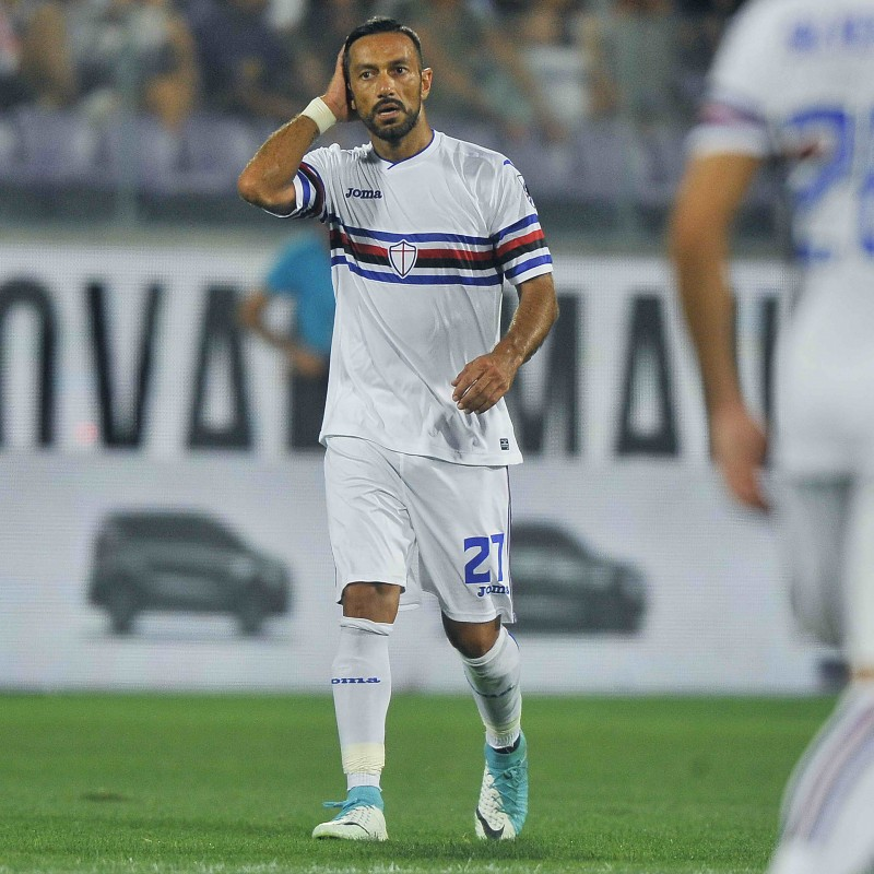 Quagliarella's Sampdoria Match-Issue 2017/18 Shirt - Signed by Players