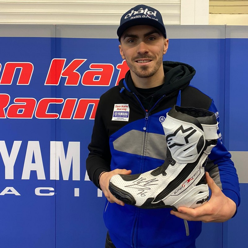 Alpinestars Boot Worn and Signed by Loris Baz