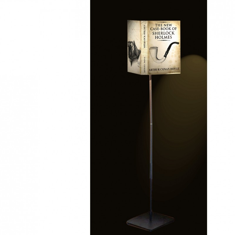 "Abat-Book ""Sherlock Holmes"" lamp with base by Art Frigò"