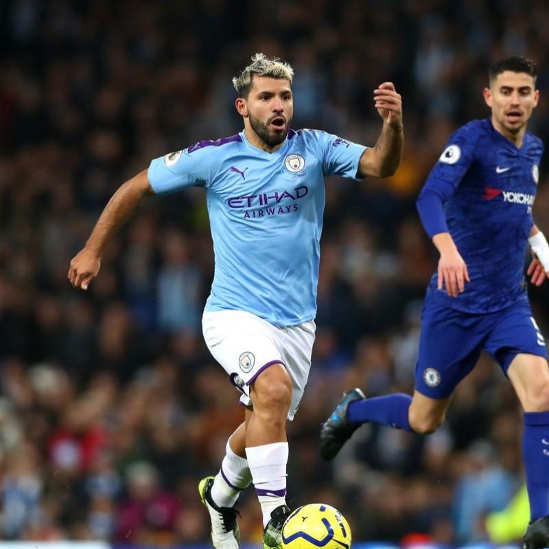 Aguero's Signed Match Shirt, Man City-Chelsea 2019