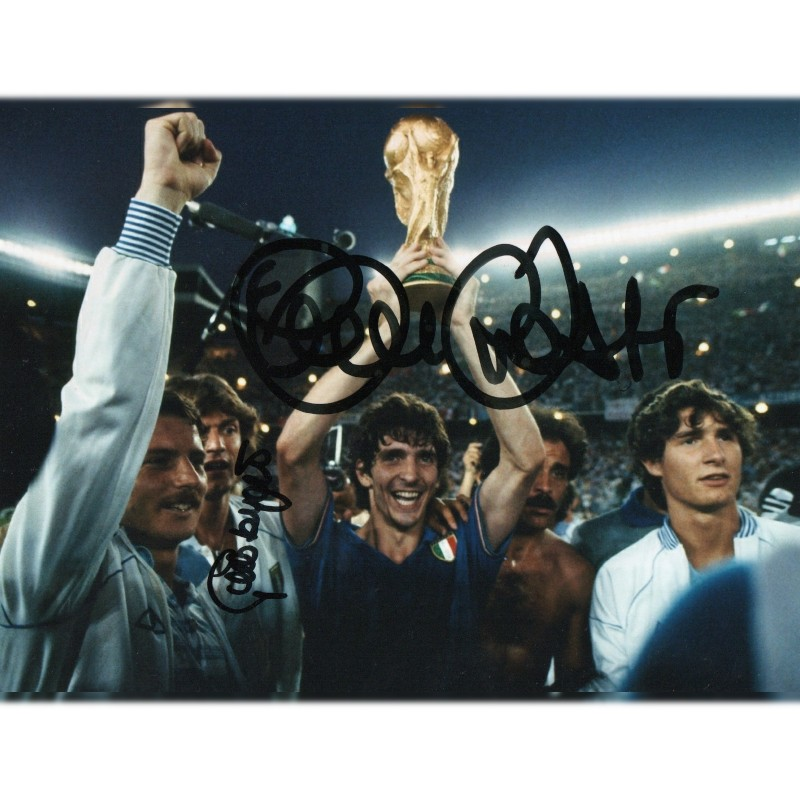 Photograph Signed by Paolo Rossi and Giancarlo Antognoni