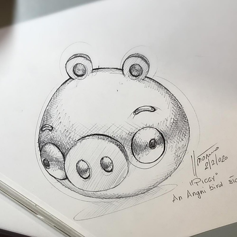 Piggy Sketch by Paolo Pastorino