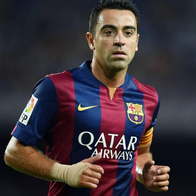 Xavi's Barcelona Signed Shirt, 2014-2015