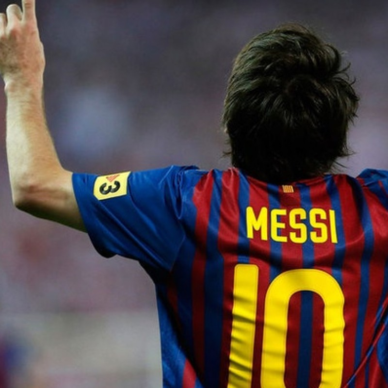Messi's match shirt, Copa del Rey Final  2012