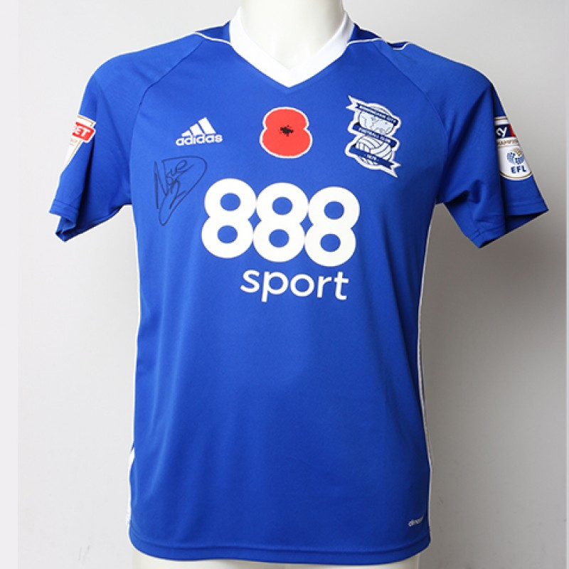 Poppy Shirt Signed by Birmingham City FC's Emilio Nsue