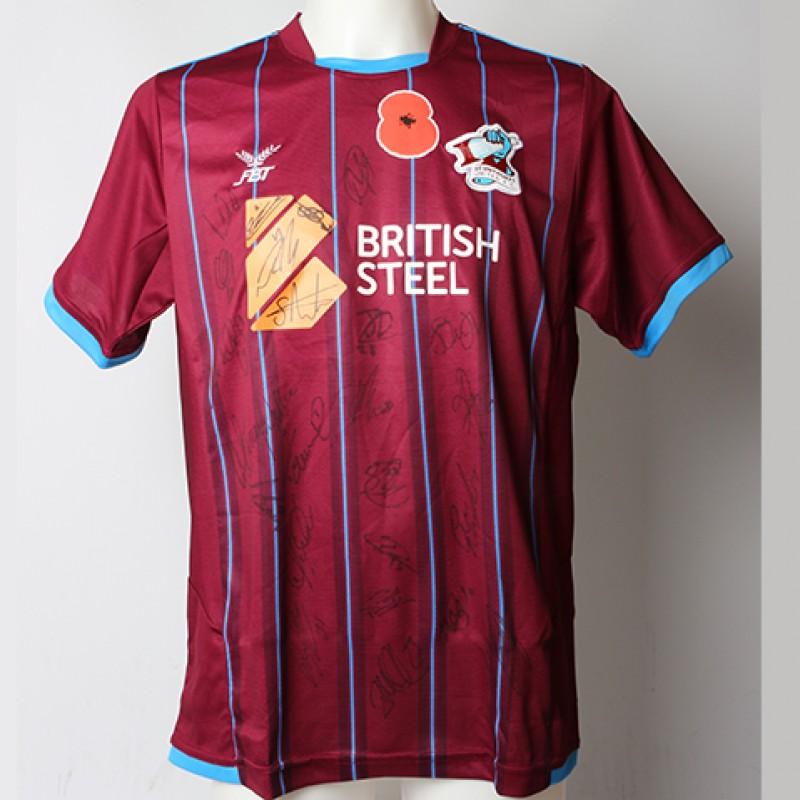 Poppy Shirt Signed by Scunthorpe United F.C.