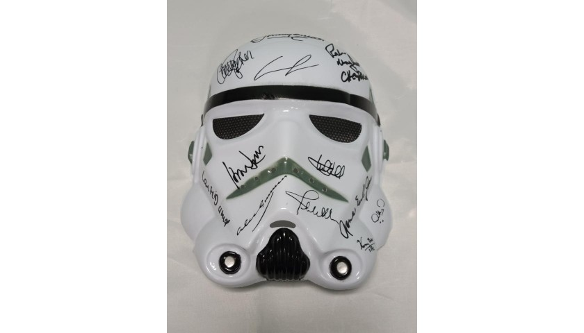 Storm Trooper Mask with Printed Signatures