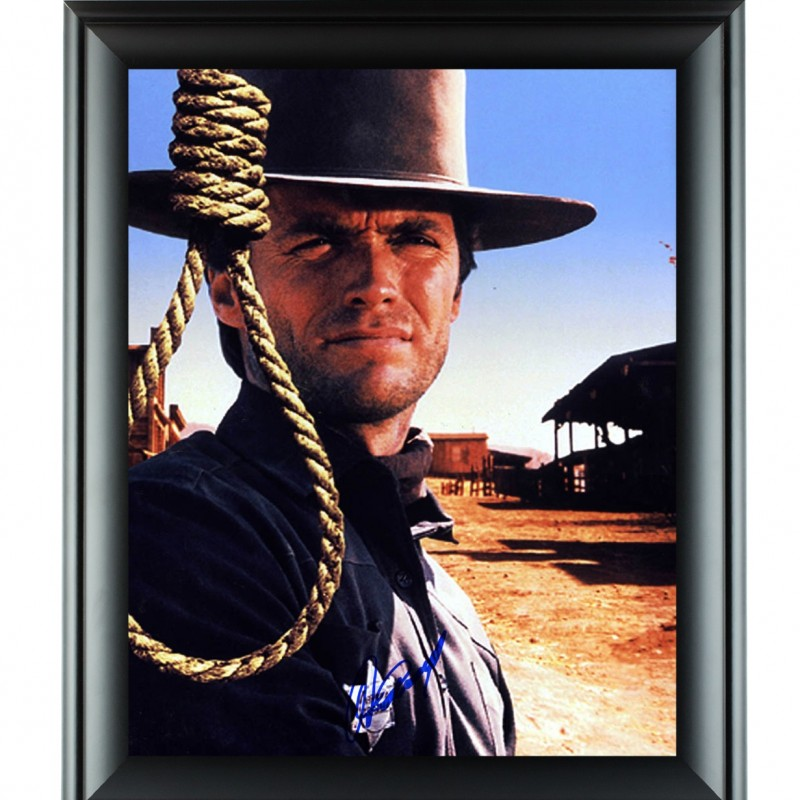 Custom Framed Poster Hand Signed by Clint Eastwood