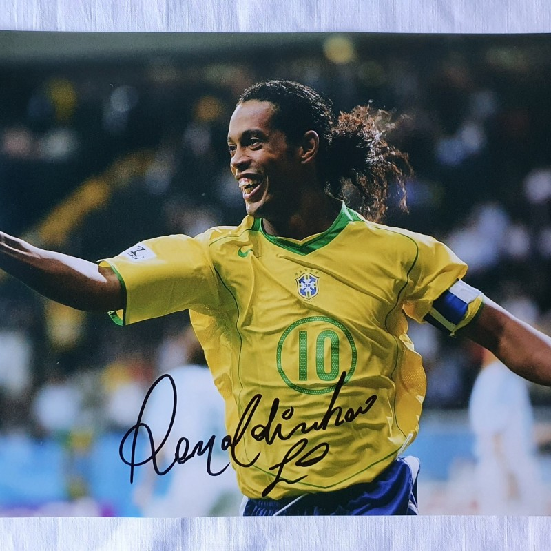 Photograph Signed by Ronaldinho