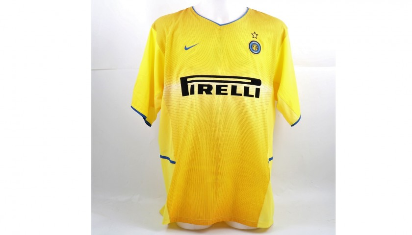 timeless design 63aea e236e Zanetti's Signed Match-Issued/Worn 2002/03 Inter Shirt - CharityStars