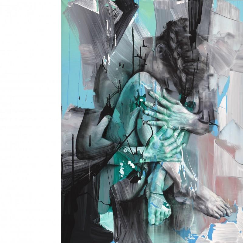"Pier Toffoletti ""Body Splash 12-916"" original graphic art on paper 70x50 cm"
