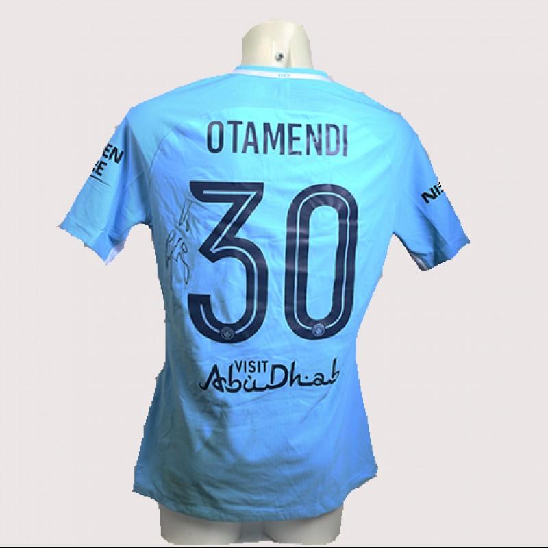 Nicolas Otamendi Match-Worn Signed Manchester Derby Shirt